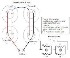 16 Ohm Wiring Diagram 4 Ohm Speaker Wiring Diagram Speaker