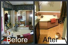 Mobile Home Remodel Before And After Before After Remodeling Best Bathroom Remodel Before And After Pictures Exterior