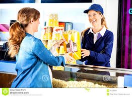 happy seller selling popcorn to man at concession stock photo cover letter happy seller selling popcorn to man at concession stock photo happy giving pregnant w