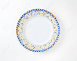 Floral Plate Design Country Style Dinner Plate With Floral Design Border And Brown