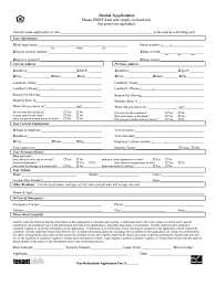 Rent Lease Application Form Fillable Rental Application Fill Online Printable