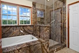 rainforest brown granite vanity tub