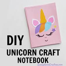 diy unicorn school supplies notebook