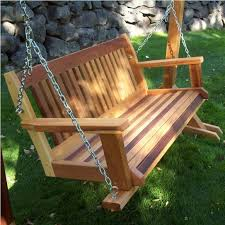 cool diy wooden porch swing plans