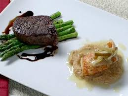 pan roasted filet mignon with asparagus