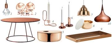 Small Picture Copper Home Decor Home Decor Trend Report Copper Blush Blush