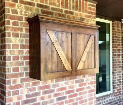 outdoor tv cabinet build