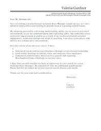 Restaurant Assistant Manager Cover Letter Activities Manager Cover