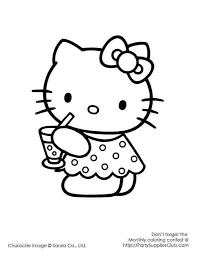 Hello Kitty Colring Sheets Hello Kitty Party Coloring Pages Pwrshare Info