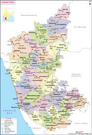 Distance Between States Chart Karnataka Map State And Districts Information And Facts