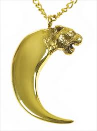 long gold tiger claw necklace by alexa de castilho jewellery pendants young british designers