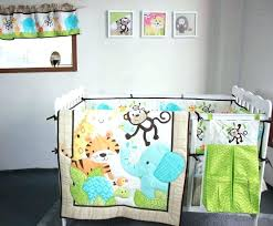 full size of 12 piece crib bedding sets animal baby room excellent new happy jungle animals