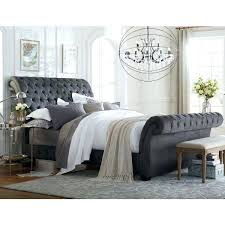 Tufted upholstered sleigh bed Faux Crystal Tufted Sleigh Bed Queen Alluring Upholstered Sleigh Bed King With Impressive On Upholstered Sleigh Bed Queen Brecourinfo Tufted Sleigh Bed Queen Queen Upholstered Sleigh Bed Tufted