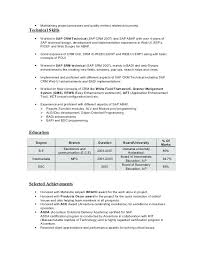 Sap Fico Sample Resumes Customer Support Specialist Resume Sap Fico