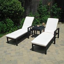 Outdoor Lounge Appealing Patio Chaise Lounge Design With Black Metal Wicker