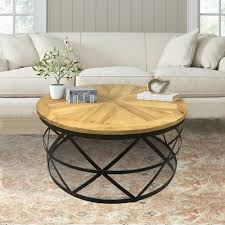 industrial reclaimed furniture. Industrial Reclaimed Wood Round Coffee Table Furniture