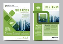 green styles book and brochure cover vector 05
