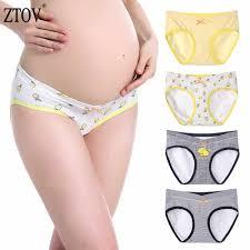 ZTOV 4Pcs/Lot U Shaped Maternity <b>Underwear Panties Pregnant</b> ...