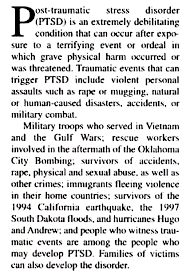 traumatic stress disorder essay post traumatic stress disorder essay