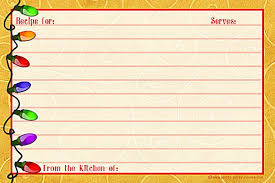 Christmas Recipe Card Pin By Valorie On Cookbook Recipe Cards Printable Recipe Cards