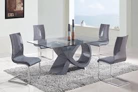 modern glass dining table set decoration ideas cool modern glass dining room tables