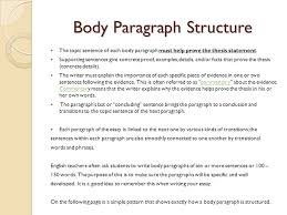 expository essay junior essay choose one of the following topics  13 body paragraph structure