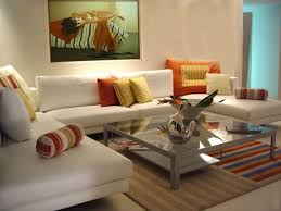 practical home decorating ideas with modern sofa and glass coffee table