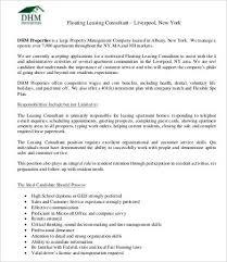 Copywriter Job Description Mesmerizing Leasing Consultant Job Description 48 Free PDF Format Download