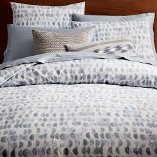 organic half moon duvet cover twin shimmer blue