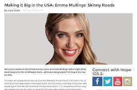 Emma Mullings Skinny Roads Breaks Into Us Charts Emma