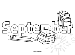 Small Picture Coloring Pages Kids September Coloring Page