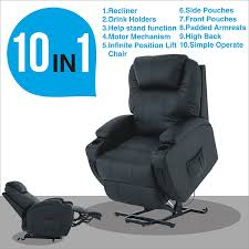 com mecor electric power lift recliner chair comfortable leather for elderly with remote control heavy duty reclining machanism living room lounge