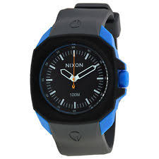 mens nixon watches nixon the ruckus black dial gray silicone mens watch a3491537