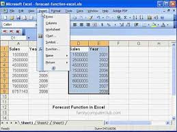 Forecast Function In Ms Excel Youtube