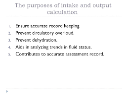 Ppt Intake And Output Calculation Powerpoint Presentation