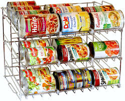Kitchen Shelf Organizer Amazoncom Decobros Supreme Stackable Can Rack Organizer Chrome