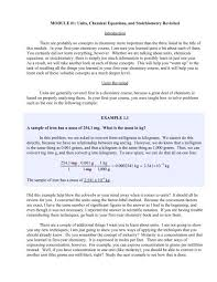 module 1 units chemical equations