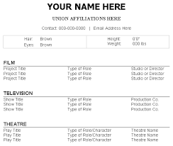 actor cv template technical beginning actor resume sample sample sample theater resume actors resume template word