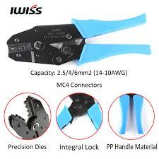 IWISS IWS 2546B MC4 Solar <b>Crimping Tools</b> Hand Crimper Plier ...