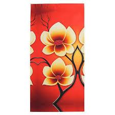 TEMPSA 4pcs Peinture Huile Toile Fleurs Tableau Abstrait Art Déco ...