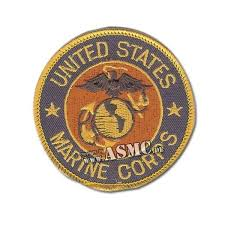 Usmc Patch Round Blue Gold Red Us Patches Asmc