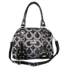 Coach Madison In Monogram Medium Black Satchels BOJ