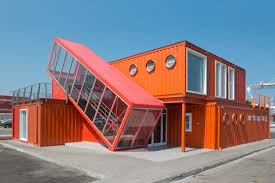 container office building. Angled Shipping Container Houses A Scissor Staircase Office Building U