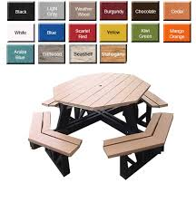 amish gardens octagon shaped picnic table