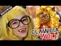monster high clawdia wolf doll makeup tutorial for or cosplay kittiesmama