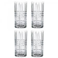nachtmann sculpture series set of 4 long drink glasses capacity 445 ml long drink glasses highball glasses cups glasses eating drinking