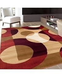 innovation inspiration red area rugs sweet deal on modern circles rug x 5 contemporary furniture direct red black swirl white area rug