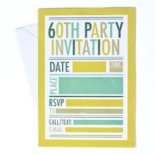 60 Party Invitations 3 3 60th Birthday Party Invitations Free