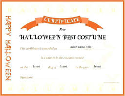 costume certificate template templates frameimage org