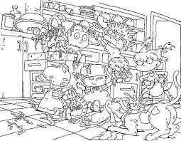 Small Picture The Rugrats Make a Mess in the Kitchen Coloring Page Color Luna
